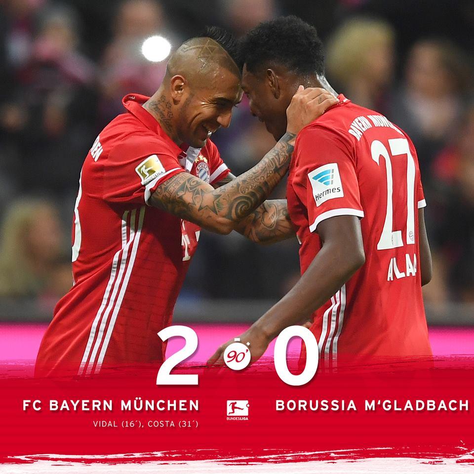 El Bayern No Da Concesiones Al Gladbach Y Suma Una Nueva Victoria A Su Liderato