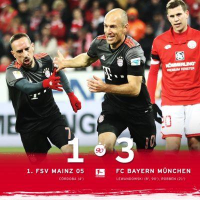 El Bayern Remonta Al Mainz Y Se Coloca Líder Provisinal De La Bundesliga