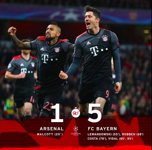El Bayern Resiste Y Acaba Goleando Al Arsenal Para Sellar Su Pase A Los Cuartos De Final