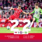 Reparto De Puntos Entre Bayern Y Wolfsburgo