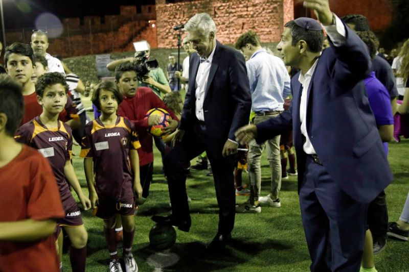 """Ancelotti leads a very special session on """"Peace and Friendship"""" in Jerusalem"""
